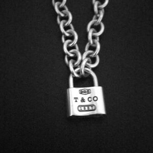 Tiffany & co. Sterling silver padlock necklace